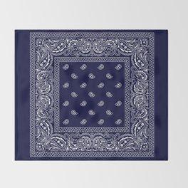 Bandana - Navy Blue - Southwestern Throw Blanket