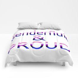 Genderfluid and Proud (white bg) Comforters