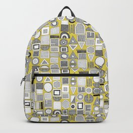 frisson memphis bw yellow Backpack
