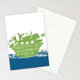 Noahs Ark - Bible - And Noah Did According to All that God had Commanded him Stationery Cards