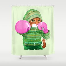 BOXING CAT 4 Shower Curtain
