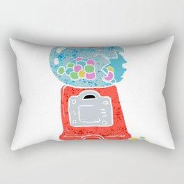 Bubble gum machine. Rectangular Pillow