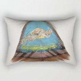 Sea Turtle on the Bottom Rectangular Pillow
