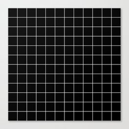 Grid Simple Line Black Minimalist Canvas Print