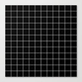 Grid Simple Line Black Minimalist Leinwanddruck