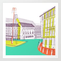 Urban Life II Art Print