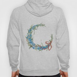Blue moon and little florets Hoody