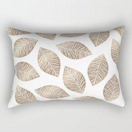 Sunshine Leaves in Taupe Rectangular Pillow