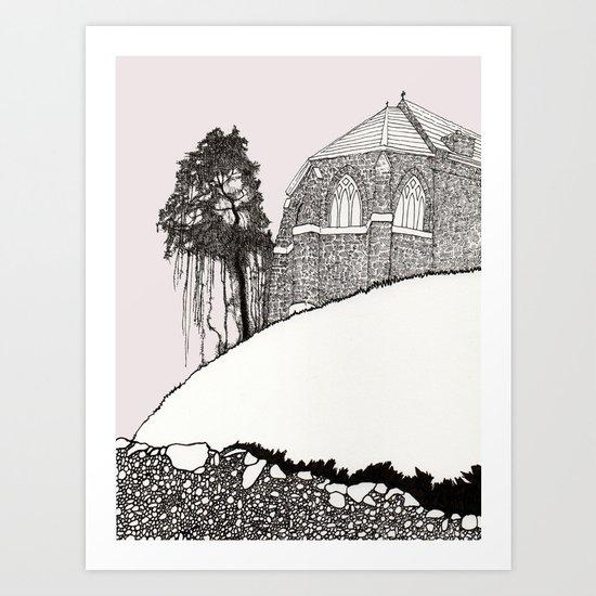 St. Vigeans (black and white) Art Print