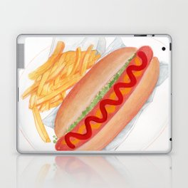 Yummy Hot Dog On Your Plate!  Laptop & iPad Skin