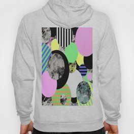 Cluttered Circles - Abstract, Geometric, Pop Art Style Hoody