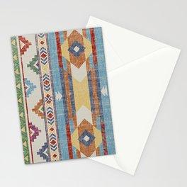 Vintage Multicolore Rug Design Stationery Cards