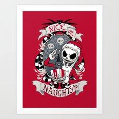 Scary Santa Art Print