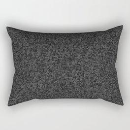 grayscale treemap mosaic - dark Rectangular Pillow