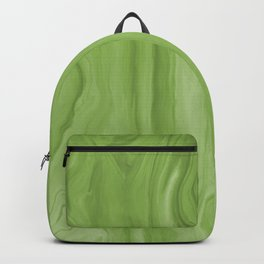 Marblesque Green 2 - Abstract Art Marble Series Backpack