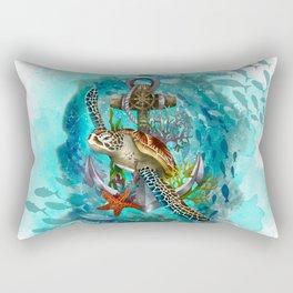 Turtle and Sea Rectangular Pillow