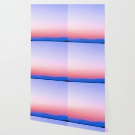 Dreamy Mountain Range | Serene Calm Pink Lavender Cool Daydream Ombre Sunset California Hills Wallpaper