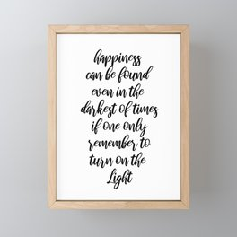 Happiness can be found Framed Mini Art Print
