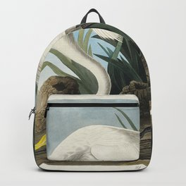 White Heron from Birds of America (1827) by John James Audubon etched by William Home Lizars Backpack