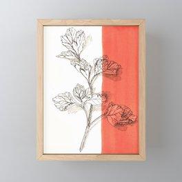 parsley branch nature watercolor orange Framed Mini Art Print