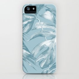 Island Dream Teal Palm Leaves iPhone Case