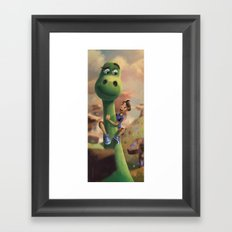 Pretty Sure Dinosaur Framed Art Print