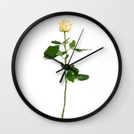 Yellow Rose (Color) Wall Clock