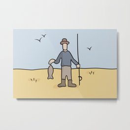 Beavid and Butthead Fisherman picture Metal Print