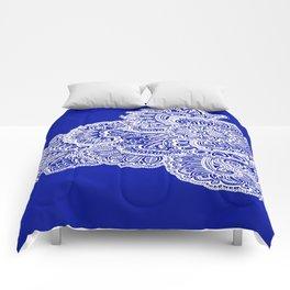 Half Navy Comforters