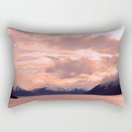 Rose Quartz Over Hope Valley Rectangular Pillow