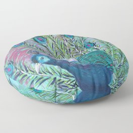 Tail of the Peacock Floor Pillow