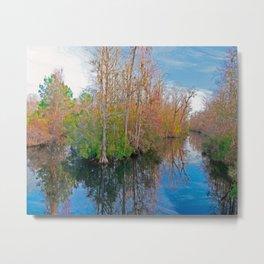 Waccamaw Creek Reflections Metal Print