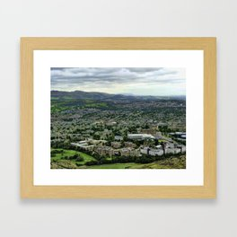 From the Sky of Edimburgh Framed Art Print