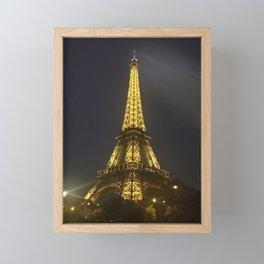 Eiffel Tower at Night Framed Mini Art Print