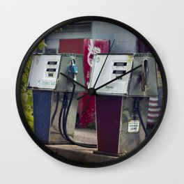 Service Stations of the Past Wall Clock