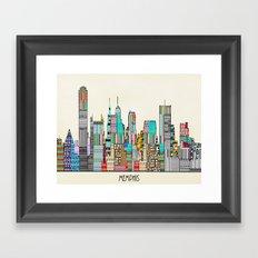 Memphis city Framed Art Print