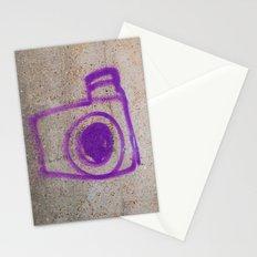 Purple Camera Graffiti Stationery Cards