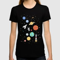 In space Black Womens Fitted Tee X-LARGE