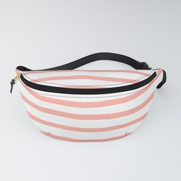 Simply Drawn Stripes Salmon Pink on White Fanny Pack