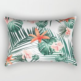Tropical Flowers & Leaves Paradise #2 #tropical #decor #art #society6 Rectangular Pillow