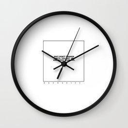 kenny (white/black) Wall Clock
