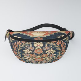 Kashan Poshti  Antique Central Persian Rug Fanny Pack