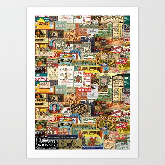 Labels Art Print