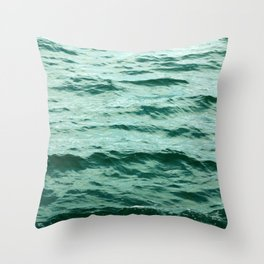 Aqua Ocean Throw Pillow