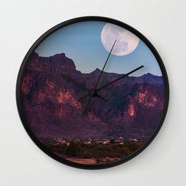 Super Blue Moon over Arizona #society6 #decor #buyart Wall Clock