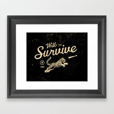 Will To Survive Framed Art Print