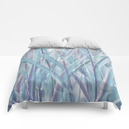 Soft turquoise morning grass Comforters