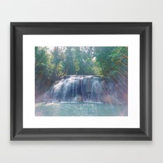 Turquoise Waterfall Framed Art Print