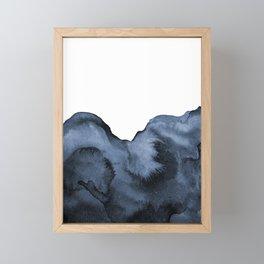 Watercolor Splash in Blue Framed Mini Art Print