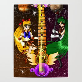 Fusion Sailor Moon Guitar #24 - Sailor Venus & Sailor Pluto Poster